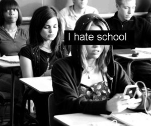 school, hate, and miley cyrus image