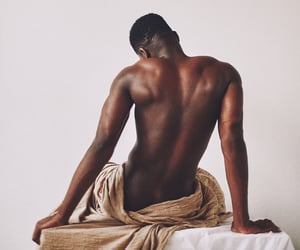 black, dark skin, and man image