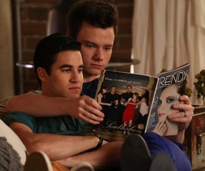 glee, klaine, and kurt hummel image