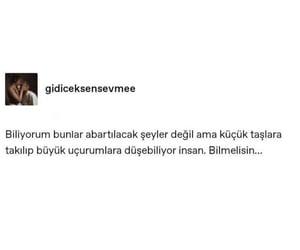 tumblr turkce, acı, and sözler image