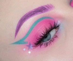 makeup, pink, and stars image