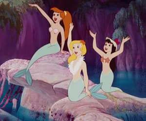 mermaids and disney image