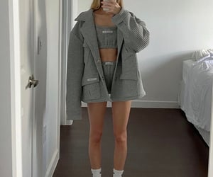 fashion, fit, and grey image