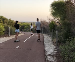 beach, skateboard, and vibes image