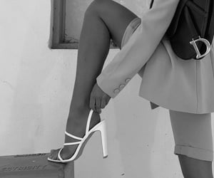 black and white, fashion, and shoes image