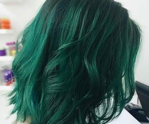 colored hair, green hair, and hair image