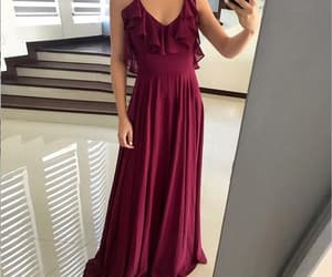 vestidos de fiesta, a line prom dresses, and chiffon prom dress image