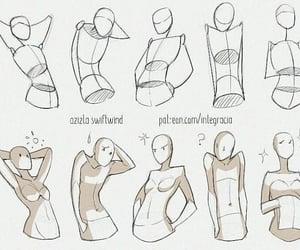 art, illustration, and body image