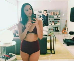 tattoo girl, underwear, and camila mendes image
