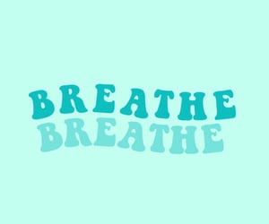word, blue, and breathe image