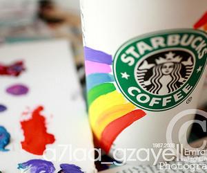 starbucks and rainbow image