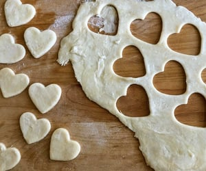 Cookies, heart, and baking image