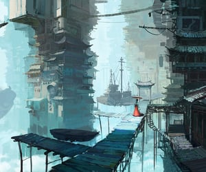 anime, port, and wallpaper image