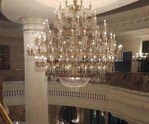 chandelier, luxury, and aesthetic image