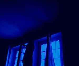 blue, curtains, and night image