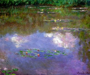 monet, art, and painting image
