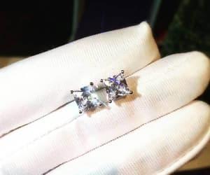 etsy, stud earrings, and diamondearrings image