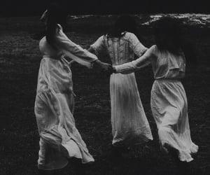 witch, dark, and white image