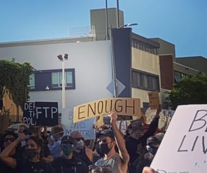 enough, protest, and racism image