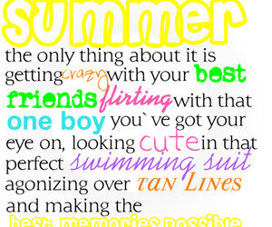 colorful, summer, and typography image