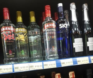 alcohol, sky, and smirnoff image