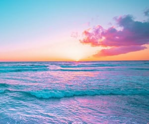 ocean, photography, and colorful image
