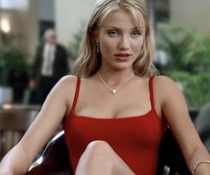 cameron diaz, 90s, and red image