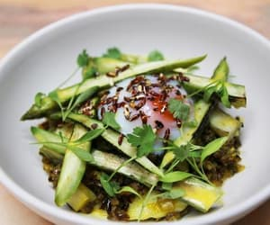 appetizer, courgette, and brown rice image
