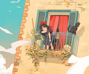 illustration, kiki's delivery service, and anime image