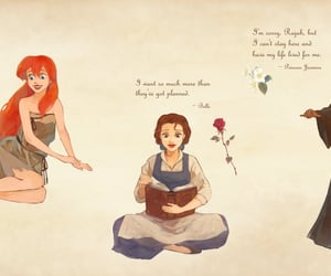 aladdin, ariel, and beauty and the beast image