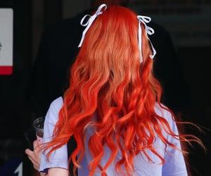 hair, orange, and twice image