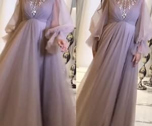 prom gown, beaded prom dresses, and high neck prom dress image