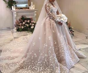 vintage wedding dress, robe de mariée, and pink wedding dresses image