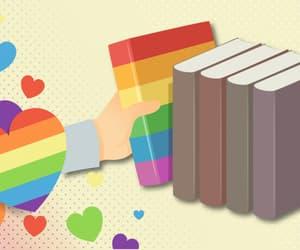 lgbtq, pride, and books image