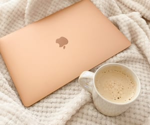 apple, coffee, and morning image