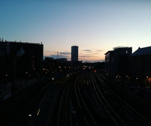 aesthetic, city, and train image