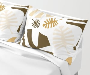 bedding, bedroom, and pillows image