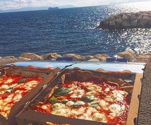 food, pizza, and sea image