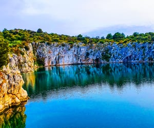 beautiful, Croatia, and lake image
