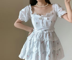 dress, kfashion, and korean image