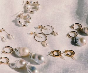 earrings, jewellery, and pearls image