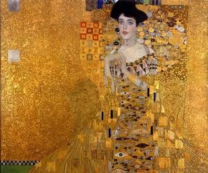 art, golden, and klimt image