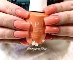 acrylics, nails, and orange image