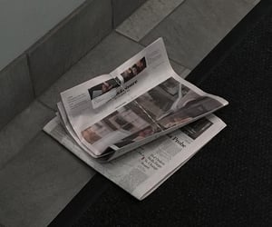 dystopia, news, and newspapers image