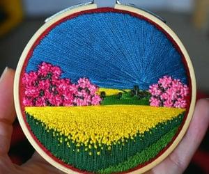 belleza, bordado, and colores image