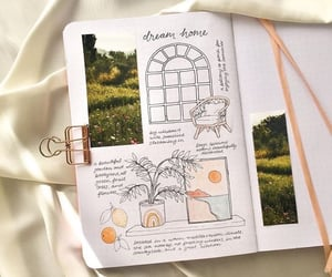 dream home and bullet journal image
