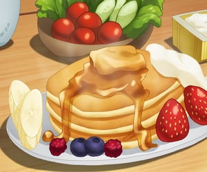 anime, anime food, and anime scenery image