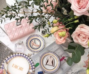 dior, cakes, and coffee image