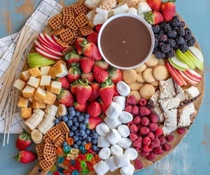 fruit, chocolate, and candy image