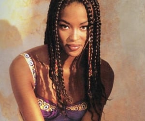 Naomi Campbell, braid, and 90s image